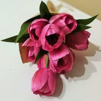 Sötét rózsaszín tulipán csokor