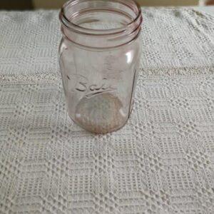 Ball befőttes üveg színezett rózsaszín