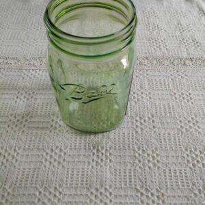 Ball befőttes üveg színezett zöld