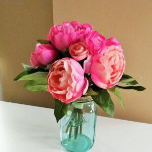 Rózsaszín boglárka Ball üvegben