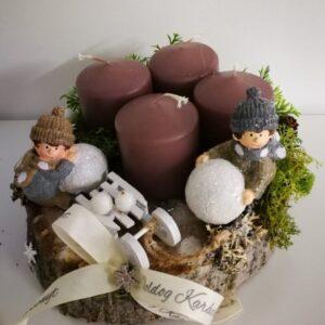 Karácsonyi asztaldísz szánkóval