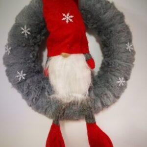 Karácsonyi ajtókopogtató mikulás figurával