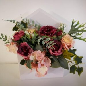 Selyemvirág csokor borítékban